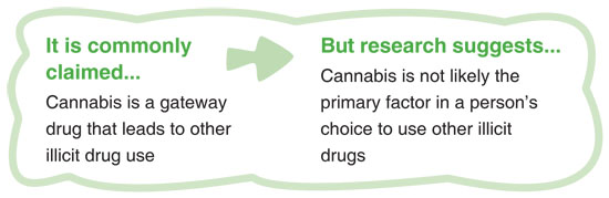 does cannabis lead to hard drugs Does cannabis lead to hard drugs there is no credible evidence that marijuana leads to the use of other drugs, and some anecdotal evidence that it can help people.