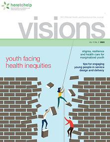 cover of the Youth Facing Health Inequities issue of Visions
